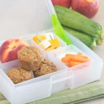 Apple Zucchini Mini Muffin Bento Box