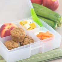 Apple Zucchini Mini Muffin Bento Box