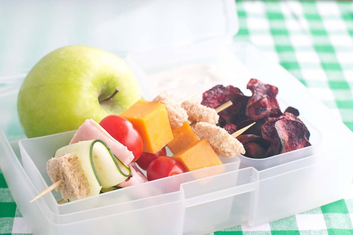 Sandwich Kabobs Bento Box Feature Image