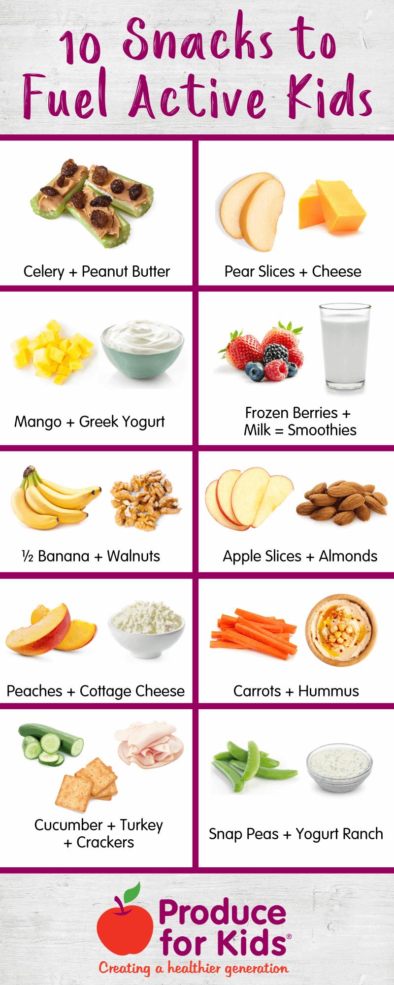 Snacks To Fuel Active Kids