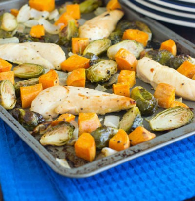 Honey Mustard Chicken and Veggies Sheet Pan Dinner
