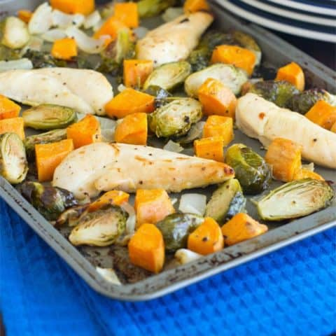 Honey Mustard Chicken and Veggies Sheet Pan Dinner