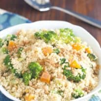 Middle Eastern Broccoli & Dried Apricot Couscous Salad
