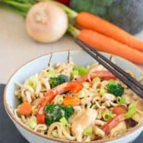 Thai Peanut Chicken & Vegetable Noodle Stir-Fry