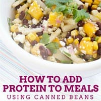 How to Add Protein to Meals using Canned Beans
