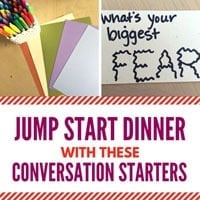 Jump Start Dinner with these Conversation Starters
