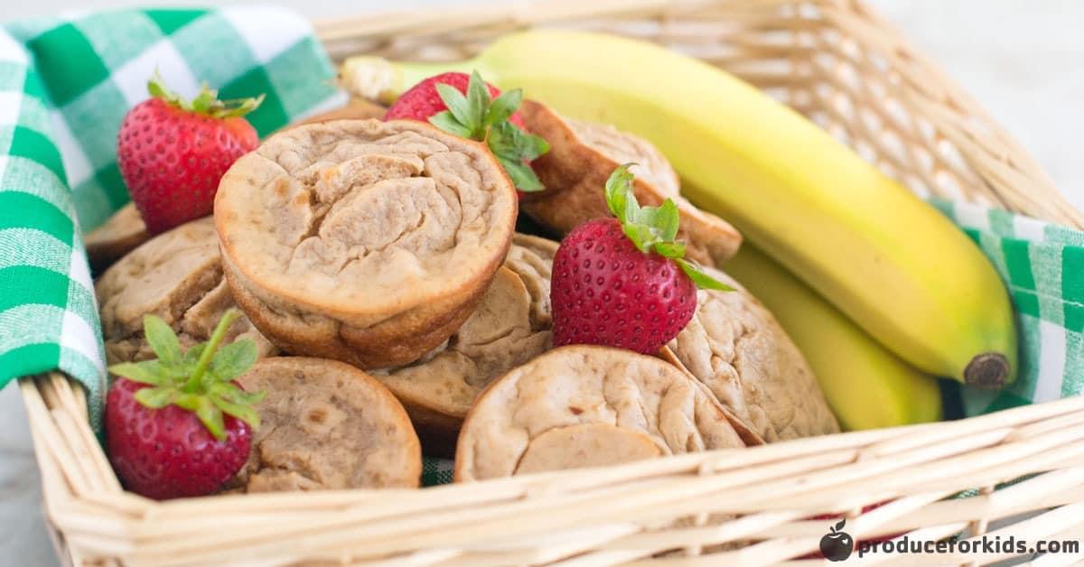 strawberry banana blender muffins