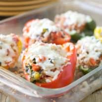 Turkey & Kale Quinoa Stuffed Peppers