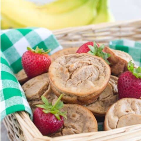 Strawberry Banana Blender Muffins