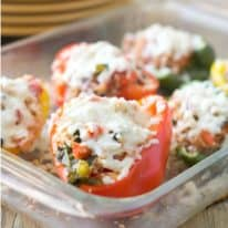 Turkey & Kale Quinoa Stuffed Peppers
