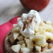 Whole Grain Waffles with Spiced Apples