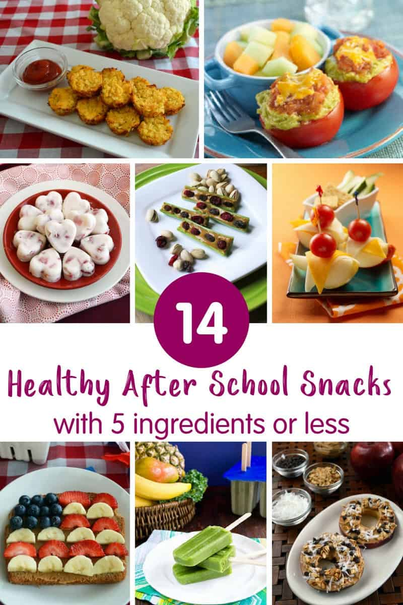 14 Healthy After School Snacks with 5 ingredients or less