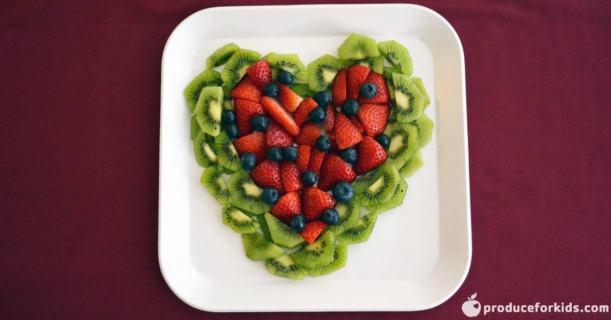 valentines day fruit tray