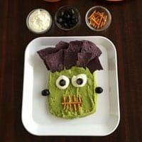Frankenstein Guacamole for Halloween