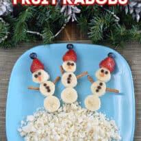 Snowman Fruit Kebabs