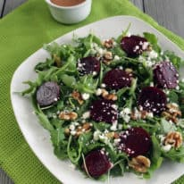 Beet, Goat Cheese and Walnut Salad