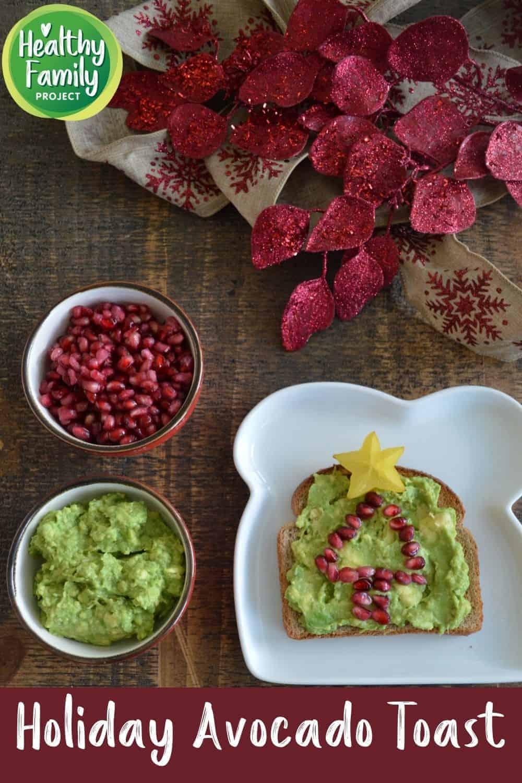the best holiday avocado toast