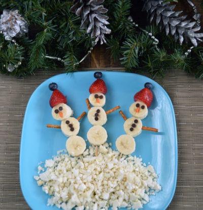 Snowman Fruit Kebobs