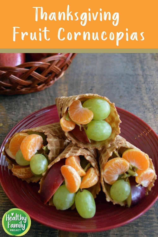 how to make thanksgiving fruit cornucopias