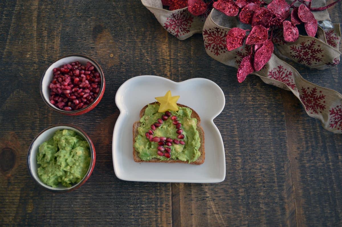 holiday avocado toast