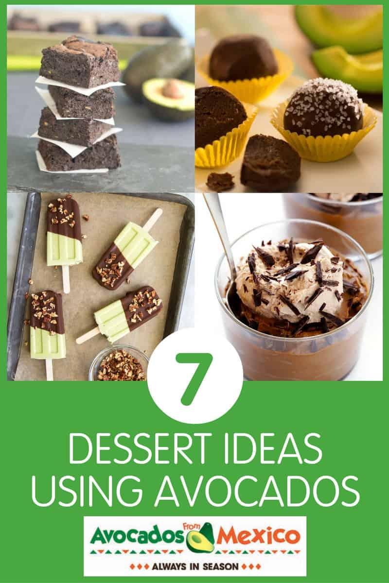 7 Dessert Ideas Using Avocados