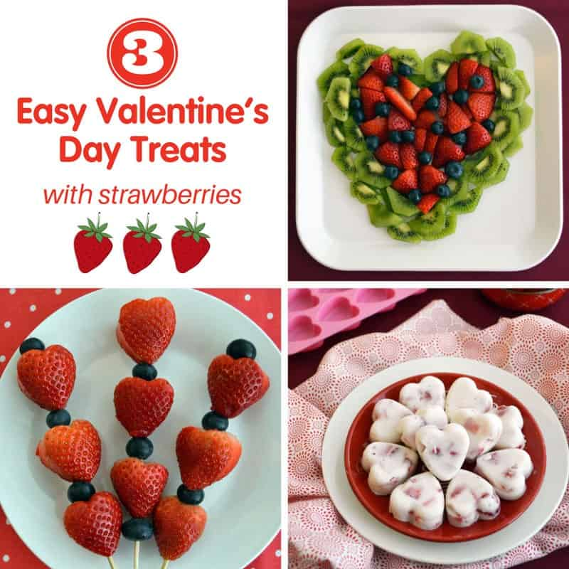 3 Easy Valentine's Day Treats with Strawberries