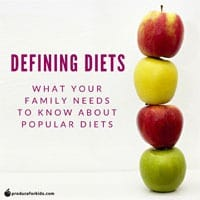 Defining Diets: What Your Family Needs to Know About Popular Diets