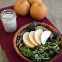 Butterscotch Pear, Walnut & Goat Cheese Salad