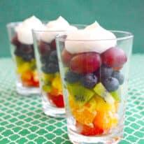 Rainbow Fruit Parfaits