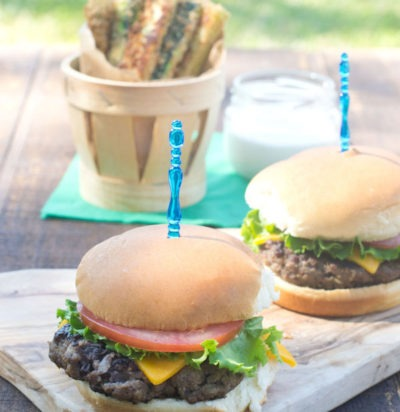 Beef & Black Bean Sliders with Baked Zucchini Fries