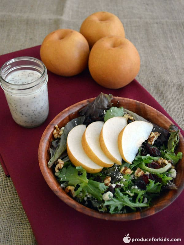 Butterscotch Pear, Walnut & Goat Cheese Salad