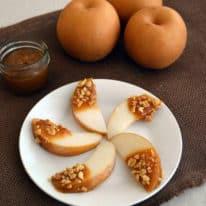 Caramel Pear Slices