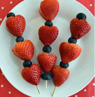 Strawberry Valentine's Day Skewers