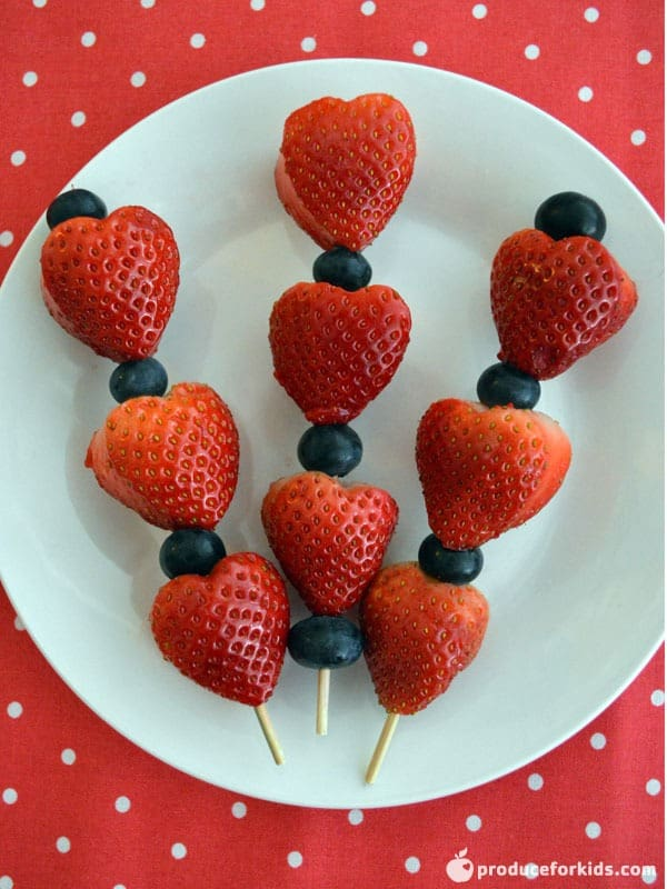 Strawberry Valentine's Day Skewers