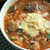 Meatball & Orzo Soup