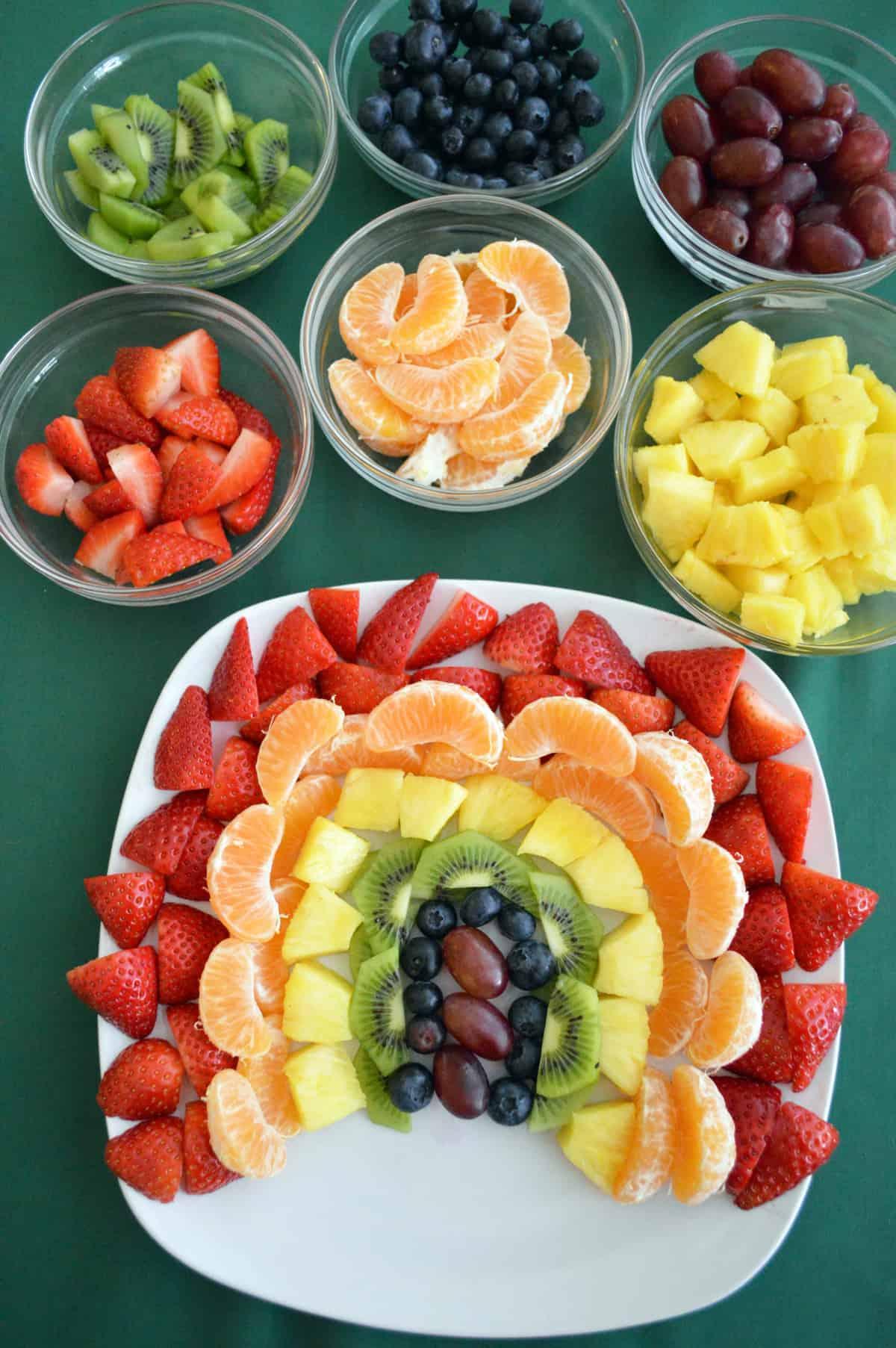 Rainbow Fruit Tray Produce For Kids