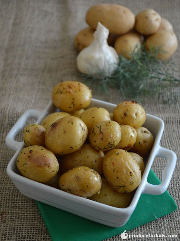 Dill & Garlic Roasted Potatoes