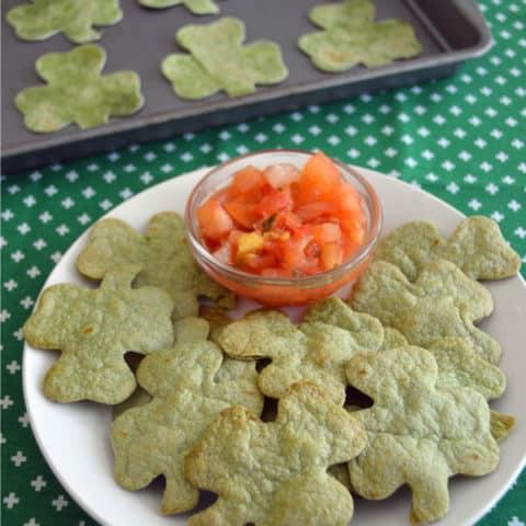 St. Patrick's Day Shamrock Chips & Salsa