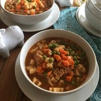 Mexican-Style Pasta Soup for Kids