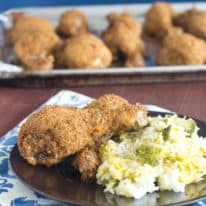 Easy Shakin' Breaded Drumsticks & Cheesy Broccoli Rice Bake