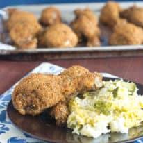 Easy Shakin' Breaded Drumsticks & Cheesy Broccoli Rice Bake