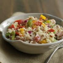 Italian Vegetable Wild Rice Salad