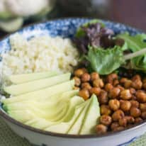 Roasted Chickpea Vegetarian Buddha Bowl