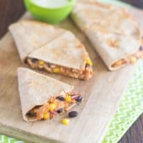 Fiesta BBQ Chicken Quesadilla