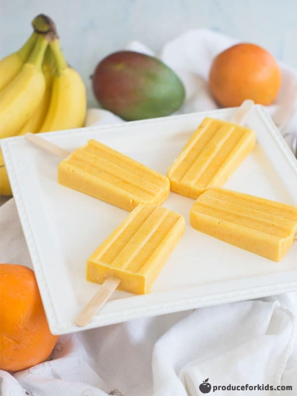 clean eating peachbanana smoothie popsicles