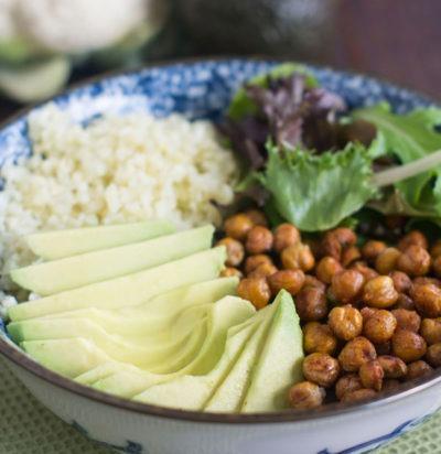 Roasted Chickpea Vegetarian Buddha Bowl