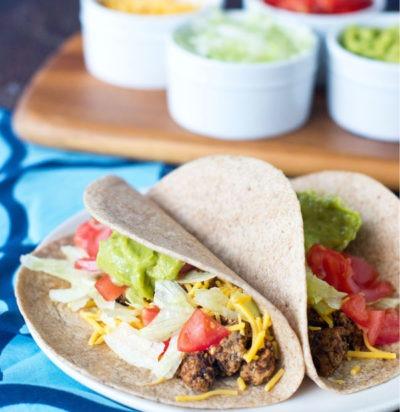 Turkey & Mushroom Tacos