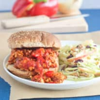 Zesty Turkey Sloppy Joes & Broccoli Apple Slaw