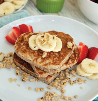 Whole Wheat Banana Crunch Pancakes