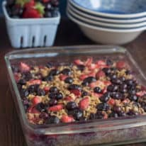 Berry Cherry Baked Oatmeal